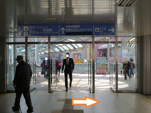 JR立花駅少し出たとこの写真