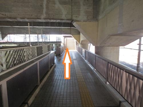 JR立花連絡橋道路接続付近の写真