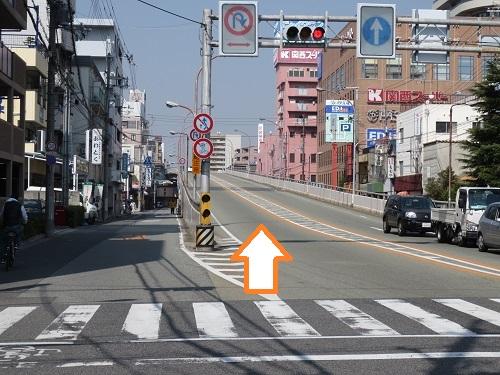 JR立花南側道路からの写真