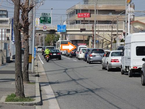 桂木交差点南側付近の写真