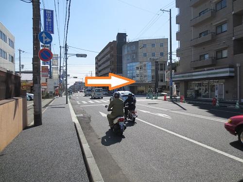 阪急塚口駅から当院までの経路の途中風景の写真