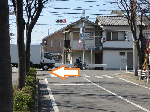 阪急塚口駅からの当院までの経路の途中風景写真
